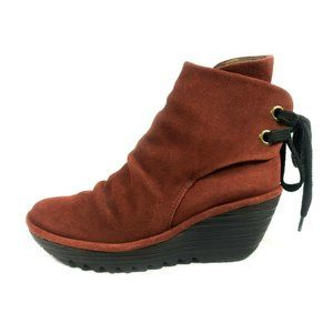 Fly London Yama Suede Wedge Boots